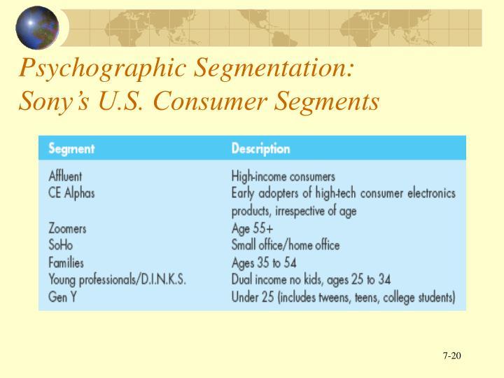 Psychographic Segmentation: