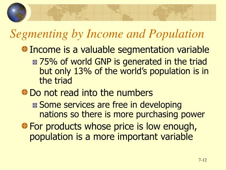 Segmenting by Income and Population