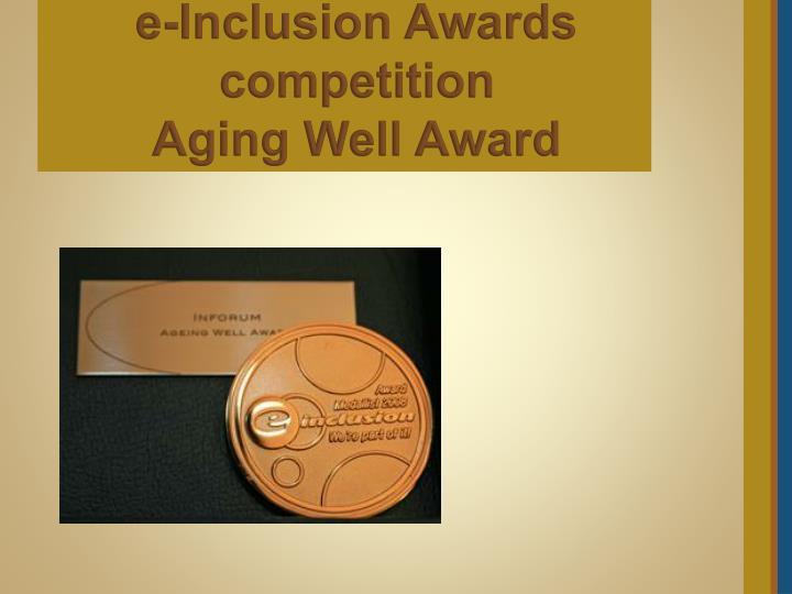 e-Inclusion Awards competition