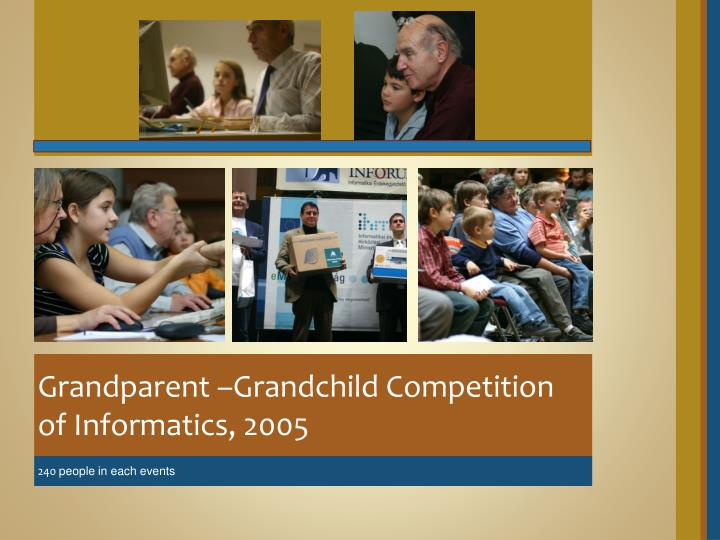 Grandparent –Grandchild Competition of Informatics, 2005