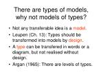 there are types of models why not models of types