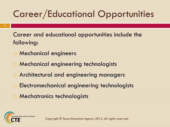 Career/Educational Opportunities