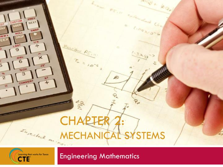 Chapter 2 mechanical systems