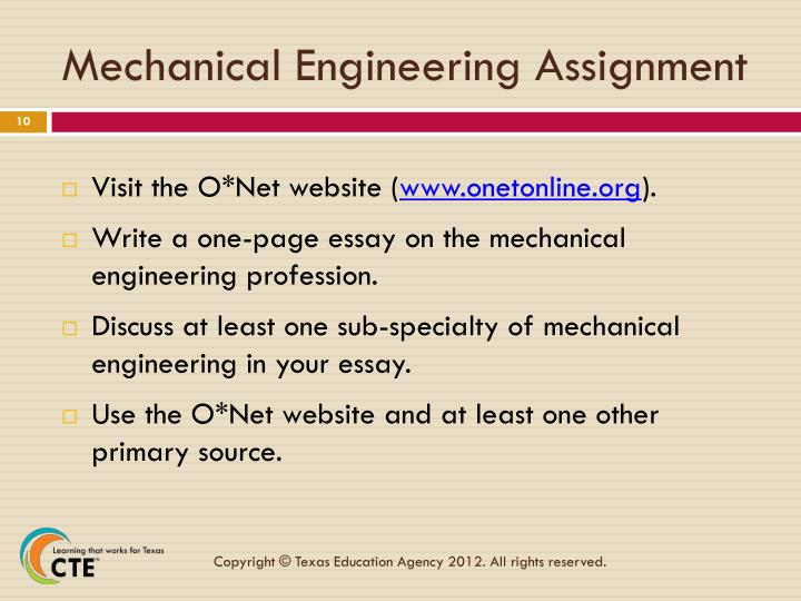 Mechanical Engineering Assignment