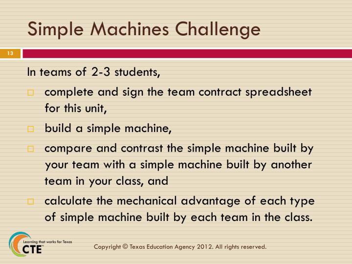 Simple Machines Challenge