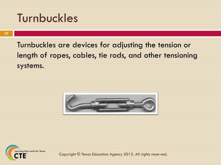 Turnbuckles