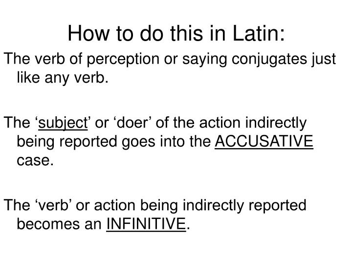 How to do this in Latin: