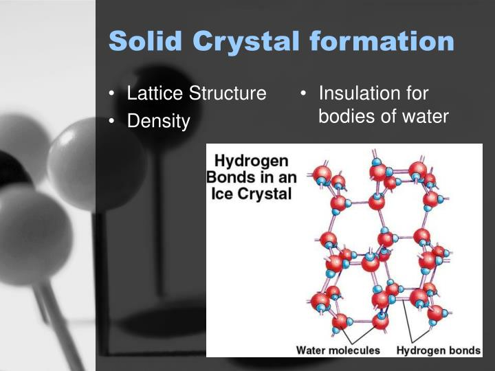 Solid Crystal formation