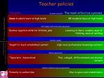 teacher policies