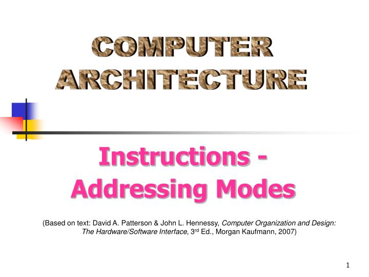 Ppt Computer Architecture Powerpoint Presentation Free Download Id 1830776