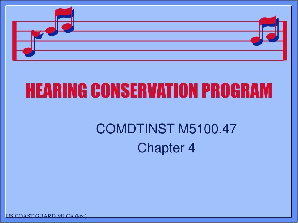 ppt - hearing conservation program powerpoint presentation