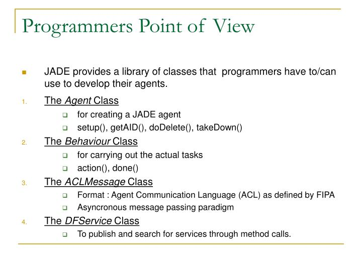 Programmers Point of View