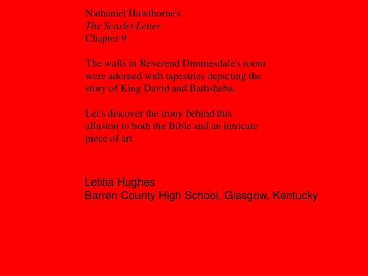 the threads of irony in the scarlet letter by nathaniel hawthorne