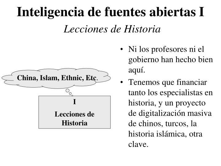 Inteligencia de fuentes abiertas i lecciones de historia