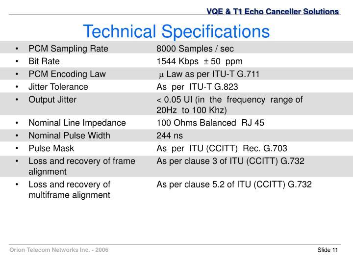 PCM Sampling Rate8000 Samples / sec