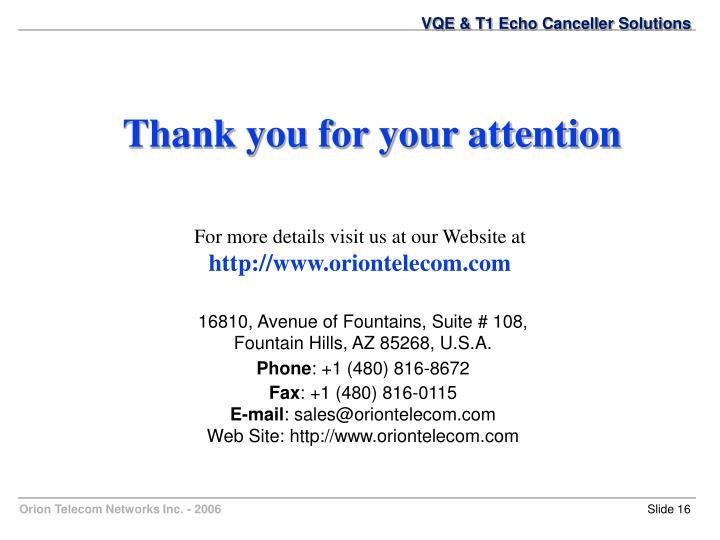 VQE & T1 Echo Canceller Solutions