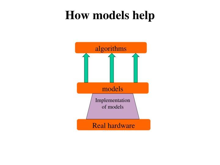 How models help