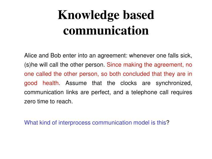 Knowledge based communication