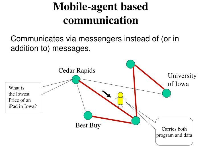 Mobile-agent based communication