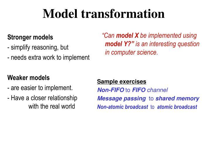 Stronger models
