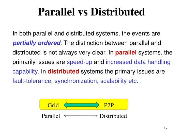 Parallel vs Distributed