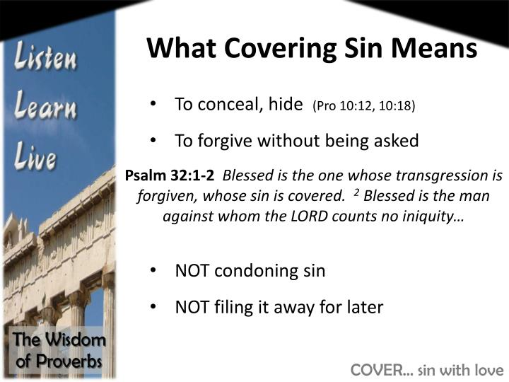 What Covering Sin Means