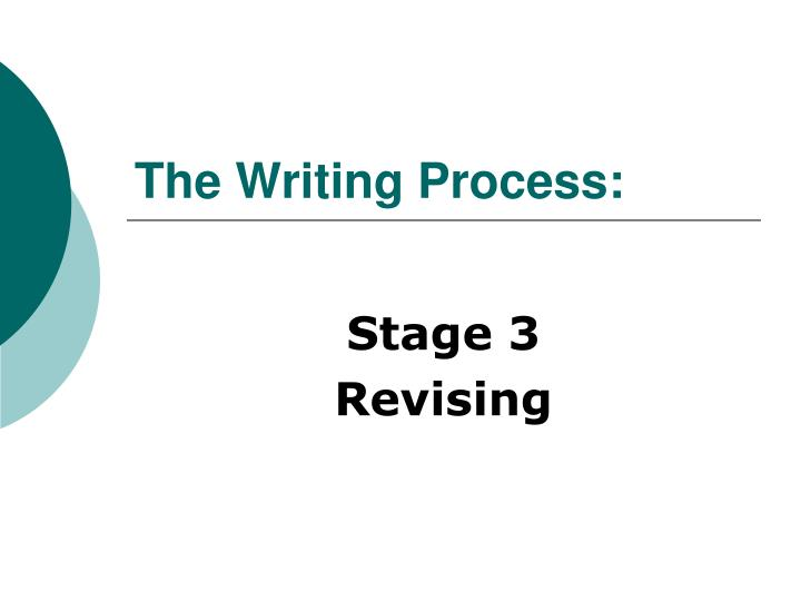 writing process presentation The writing process an oral presentation is when you deliver the written word, making it come alive for the audience the following guide focuses on speech writing and follows a series of steps very similar to that of creative and formal writing: understand the purpose and the task.