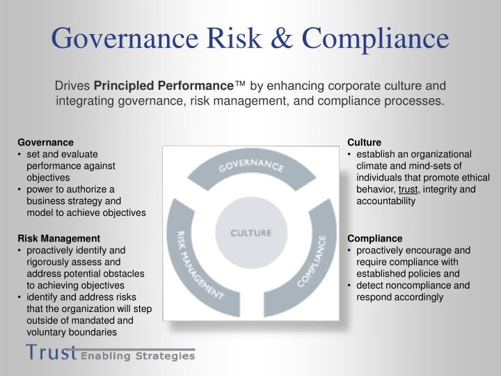 risks of noncompliance in corporate governance A word to the wise: corporate compliance programs are not solely for large companies if your company is convicted of a violation and the court appoints a compliance monitor as a condition of probation, in addition to the costs of establishing and maintaining a compliance program, you must also pay.
