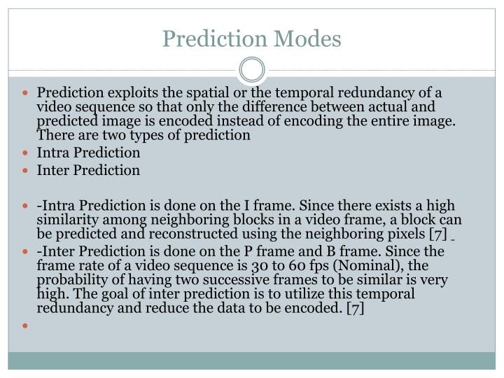 Prediction Modes