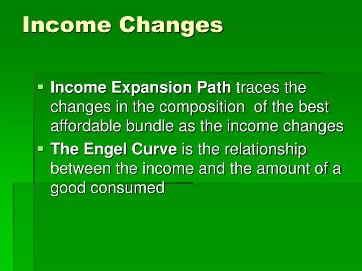 Income Changes