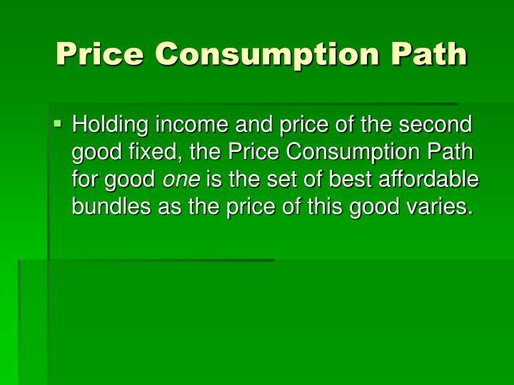 Price Consumption Path