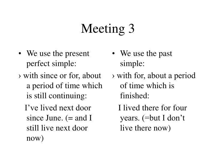 Meeting 31