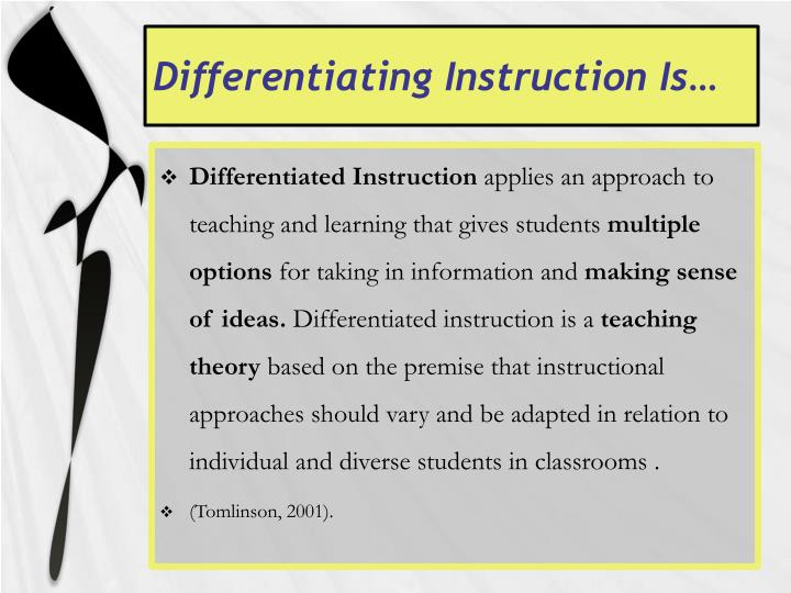 Differentiating Instruction Is…