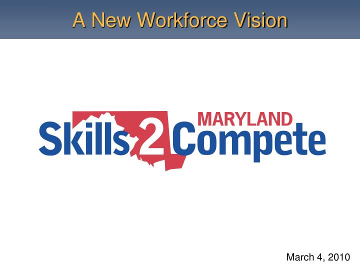 A new workforce vision