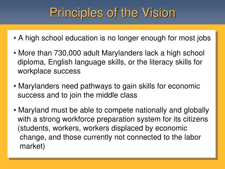 Principles of the Vision