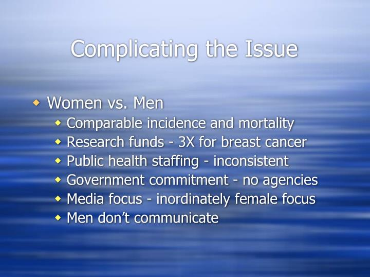 Complicating the Issue