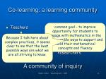 co learning a learning community