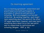 co learning agreement