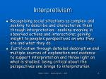 interpretivism