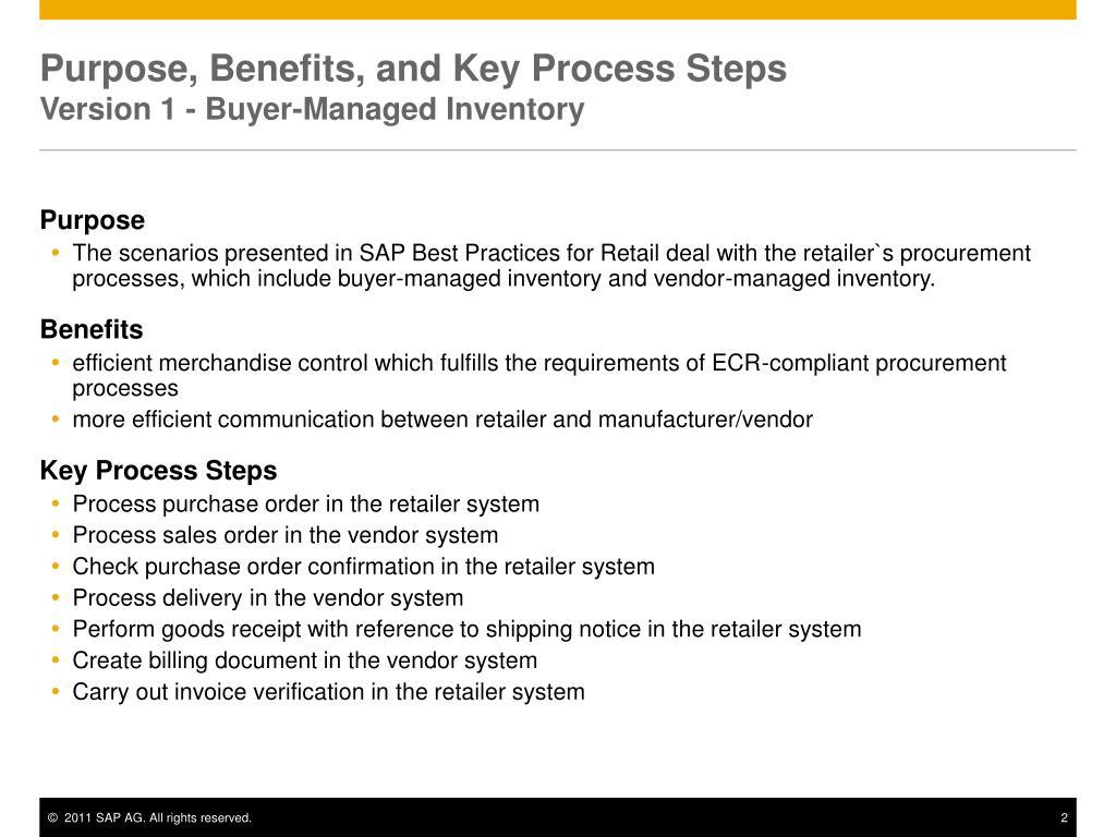 PPT - ECR Compliant Procurement Processes PowerPoint