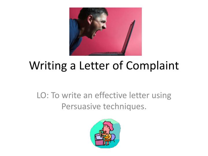 writing a letter of complaint n.