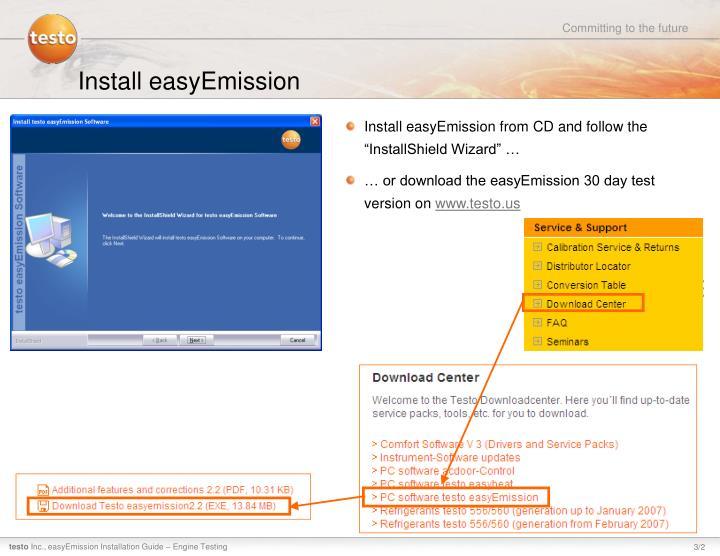 Install easyemission1
