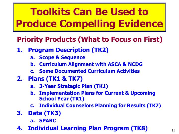 Toolkits Can Be Used to Produce Compelling Evidence