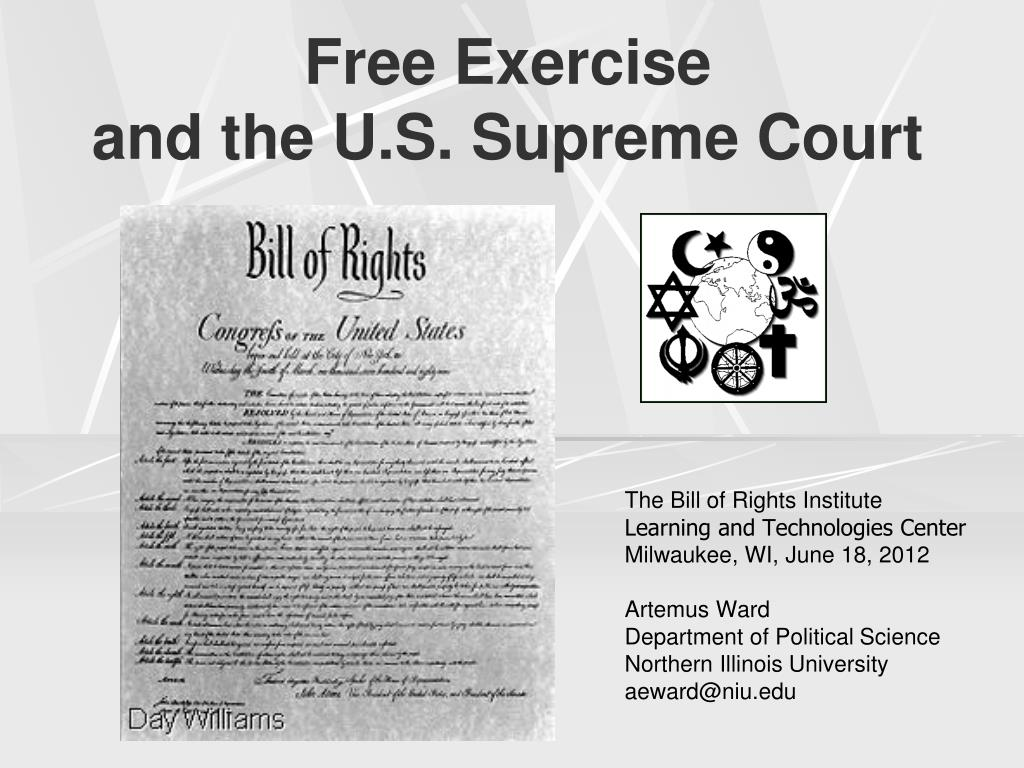 ppt free exercise and the u s supreme court powerpoint