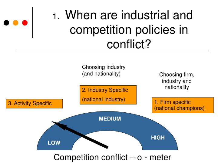 When are industrial and competition policies in conflict?
