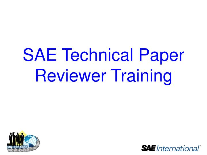 sae technical paper reviewer training n.
