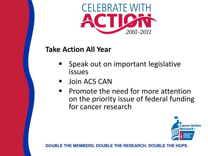 Take Action All Year