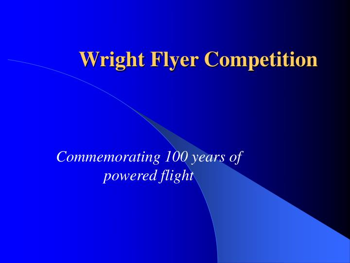 wright flyer competition n.