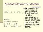 associative property of addition1