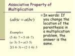 associative property of multiplication1